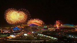 Ohňostroj v Soči při zahájení olympiády