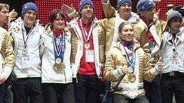 Olympioniky přivítali diváci na Letné