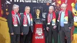 Trofej pro mistry světa v Praze