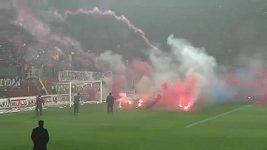 Řádění fanoušků Trabzonsporu