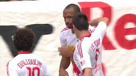 Thierry Henry a jeho netradiční oslava