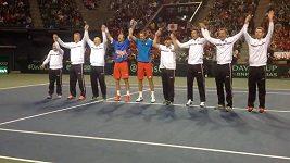 Oslavy českých tenistů v Japonsku