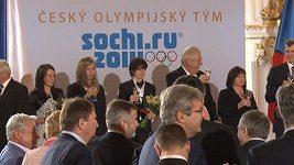 Prezident Zeman přijal na Hradě olympioniky