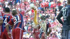Pivní oslavy Bayernu Mnichov.