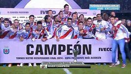 Fotbalisté River Plate slaví titul