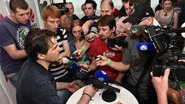 Jaromír Jágr v rozhovoru s novináři
