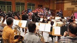 Natáčení hymny s Plzeňskou filharmonií