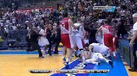 Hromadná bitka v srbské basketbalové lize