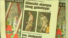 Fotografové pořídili snímky nahých chorvatských fotbalistů