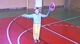 Čtyřletá Petra Kvitová trénuje