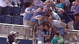 Dwyerovo selfie po vstřeleném gólu
