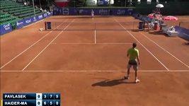 Rakouský tenista Haider-Maurer bojkotoval poslední game duelu s Adamem Pavláskem.
