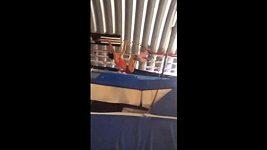 Jennifer Suhrová se při tréninku pořádně potloukla