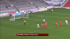 Zpackaná penalta Realu Madrid proti Liverpoolu.