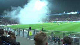 Atmosféra zápasu Plzeň - Sparta