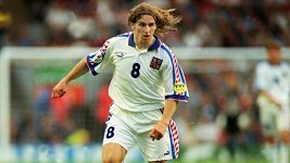 Dloubák Karla Poborského z Eura 1996 proti Portugalsku