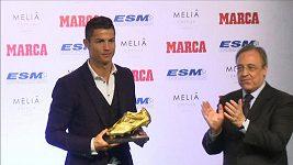 Cristiano Ronaldo převzal Zlatou kopačku