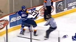 Zraněný kanadský mladík