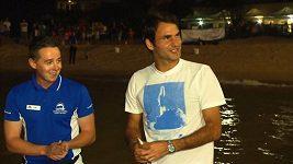 Federer si v Austrálii užíval s delfíny