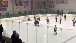 Vášně na zápase hokejistek