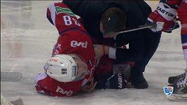 Děsivé zranění v KHL