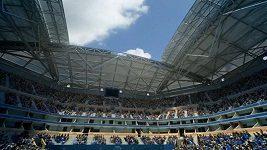 Rekonstrukce střechy na stadionu, kde se hraje U.S. Open