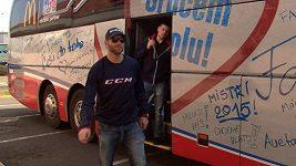 Představení autobusu hokejové reprezentace