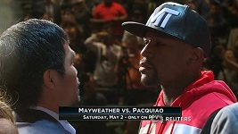Boxeři Manny Pacquiao a Floyd Mayweather