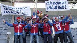 Trénink českých fotbalistů na Islandu