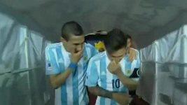 Messi a Di María si utahovali z trenéra