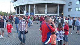 Reakce fanoušků na první fotbalové utkání Česko - Dánsko