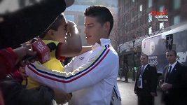 James Rodríguez a malý fanoušek