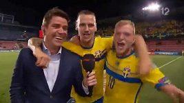 Švéd Guidetti jásal po výhře nad Dánskem