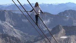 Freddy Nock si vyšlápl na nejvyšší horu Německa Zugspitze.