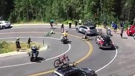 Cyklista Brammeier narazil v plné rychlosti do auta