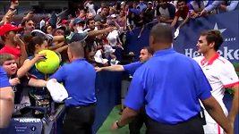 Roger Federer pomohl malému chlapci