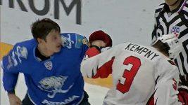 Bitka Kempného s Puškarjovem v KHL