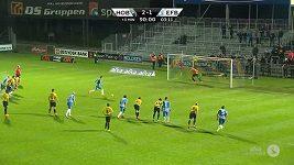 Neobvyklá oslava gólu v dánské lize