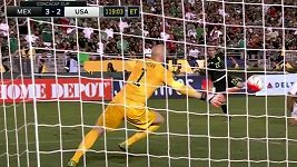 Aguilarův volej zajistil Mexiku výhru nad USA