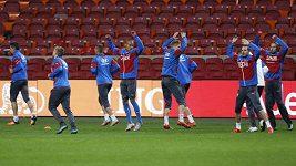 Trénink fotbalistů v Amsterdamu