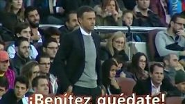 """Camp Nou křičí: """"Benítezi, zůstaň!"""""""