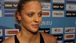 Česká plavkyně Simona Baumrtová,