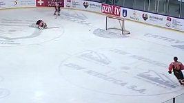 Vlastní gól hokejového brankáře