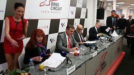 Podpis smlouvy o brněnské GP