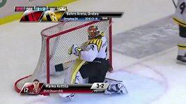Kuriózní gól v utkání švédské hokejové ligy