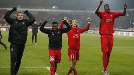 Fotbalisté Midtjyllandu slavili vítězství nad Manchesterem United