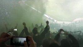 Fanoušci Wolfsburgu se předvedli v Hannoveru