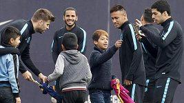 Děti se vkradly na trénink Barcelony