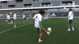 Marcelo na tréninku Realu Madrid