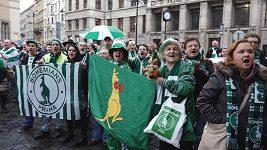 Demonstrace fanoušků za záchranu Ďolíčku